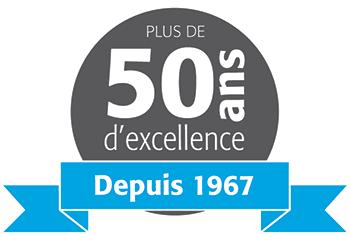 50 ans d'excellence